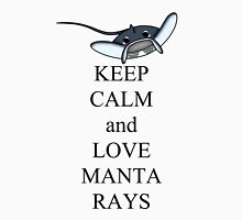 Keep calm and love manta rays Women's Fitted V-Neck T-Shirt