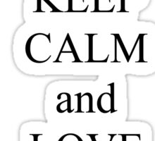 Keep calm and love manta rays Sticker
