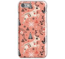 Holiday Folk in Pink Peppermint  iPhone Case/Skin