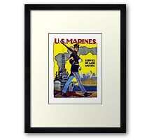 U.S. Marines -- Service On Land And Sea Framed Print