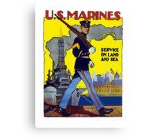 U.S. Marines -- Service On Land And Sea Canvas Print