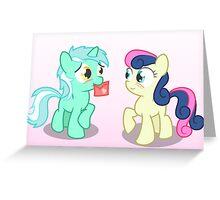 Lyra and Bonbon Greeting Card