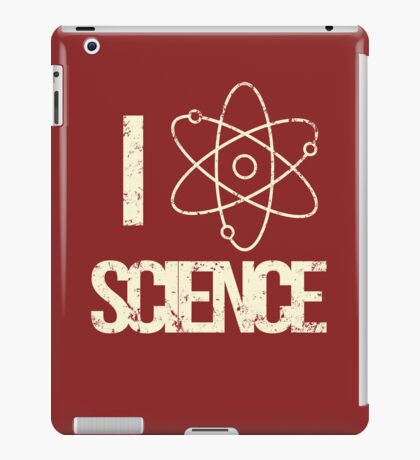 Excuse Me While I Science: I Love Science - Black Text Version iPad Case/Skin