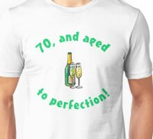 70th Birthday Aged To Perfection Unisex T-Shirt
