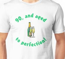 90th Birthday Aged To Perfection Unisex T-Shirt