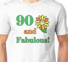 90th Birthday & Fabulous Unisex T-Shirt