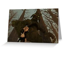 Beware of The Tree Witch! Greeting Card