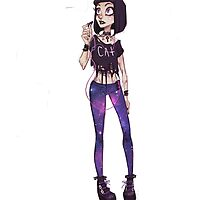pastel goth girl by kk4326