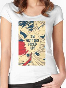 Fairy Tail Fired Up (Hope) Women's Fitted Scoop T-Shirt