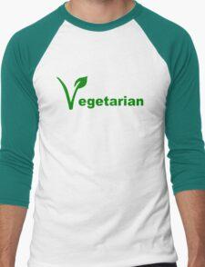 Vegetarian Men's Baseball ¾ T-Shirt