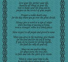 """Live Your Life""  by Chief Tecumseh Turquoise  by Irisangel"