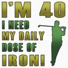 40th Birthday For Golf Lovers by thepixelgarden