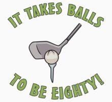 80th Birthday Golf Humor by thepixelgarden