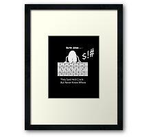 KA Humpty  Framed Print