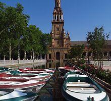 Rowing Boats, Plaza de Espana by wiggyofipswich