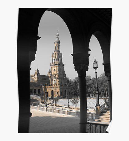 2 Arches, Plaza de Espana, Seville Poster