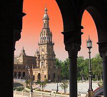 Plaza De Espana, Sevilla ( Naranja ) by wiggyofipswich