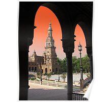Plaza De Espana, Sevilla ( Naranja ) Poster