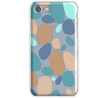Pebble pattern in blue and grey tones iPhone Case/Skin