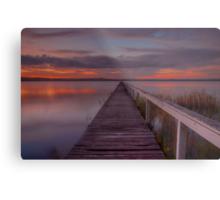 Long Jetty Sunset. Metal Print