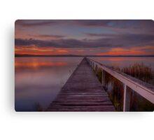 Long Jetty Sunset. Canvas Print
