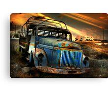 Diesel Blue, Santorini Canvas Print
