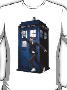David Tennant and the Tardis T-Shirt