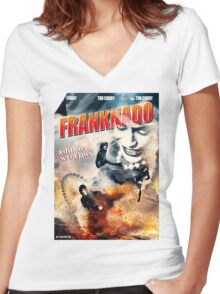 FRANKNADO! Women's Fitted V-Neck T-Shirt