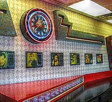 Neon Clock, Retro 50s-60s Burger King by Jane Neill-Hancock