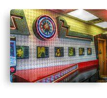 Neon Clock, Retro 50s-60s Burger King Canvas Print