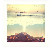 The Dreamy Mountain Art Print