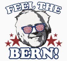 Feel the BERN! (vintage distressed look) Kids Tee