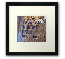 True Blue - Chiara Conte Framed Print