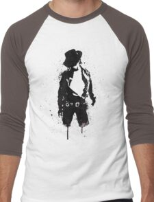 Michael Jackson ink Portrait Men's Baseball ¾ T-Shirt