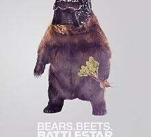Bears Beets Battlestar Galactica - Poster by thecoreycolak