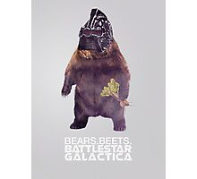 Bears Beets Battlestar Galactica - Poster Photographic Print