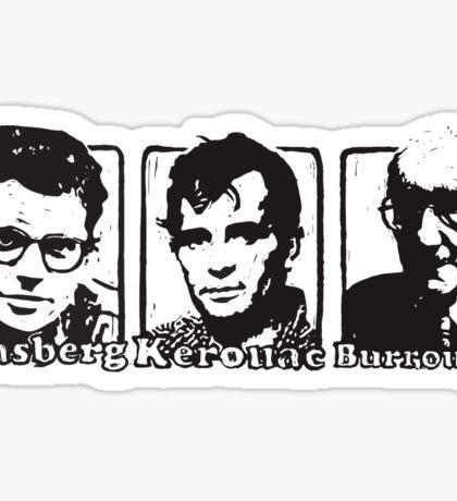 Beat Trinity: Kerouac, Burroughs and Ginsberg  Sticker