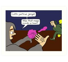Forgetful Wizard Art Print