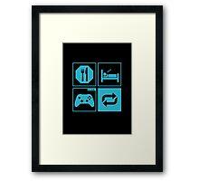 Eat, Sleep, Game, Repeat. Framed Print