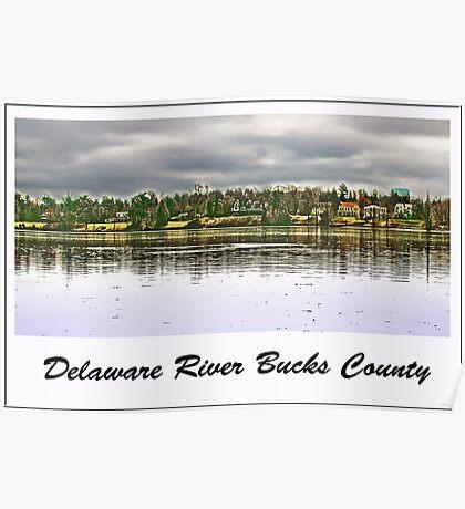 Delaware River Bucks County Poster