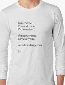 Sherlock Holmes text message Long Sleeve T-Shirt