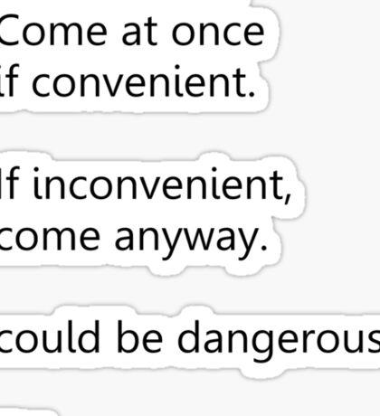 Sherlock Holmes text message (small) Sticker