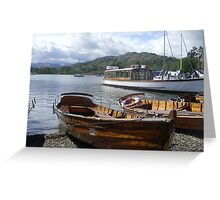 Rowing boats on Lake Windermere Greeting Card