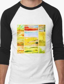 landscapes Men's Baseball ¾ T-Shirt