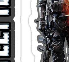 Battlefield 3 soldier hoodie zipper Sticker