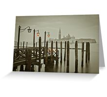 Misty Morning in Venice Greeting Card
