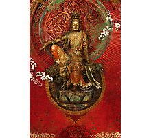 Kwanyin on Red Photographic Print
