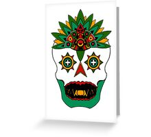 Aztec God of Death Greeting Card