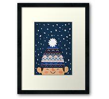 Wooly Hat Framed Print