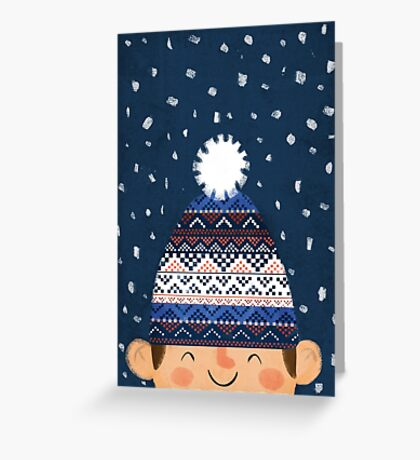 Wooly Hat Greeting Card